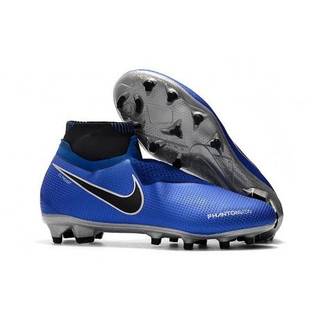 Botas de fútbol Nike PHANTOM VSN ELITE DF FG Azul Plata