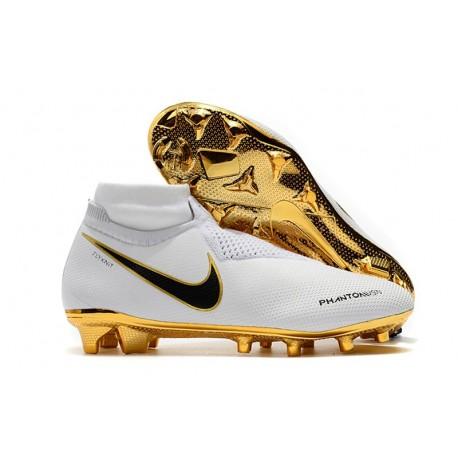 Botas de fútbol Nike PHANTOM VSN ELITE DF FG Blanco Oro