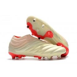 adidas Copa 19+ FG Zapatillas de Fútbol - Blanco Rojo