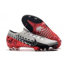 Tacos de Futbol Nike Mercurial Vapor 13 Elite FG NJR Platino Negro Rojo