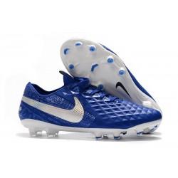 Tacón de Fútbol Nike Tiempo Legend VIII Elite FG Azul Blanco