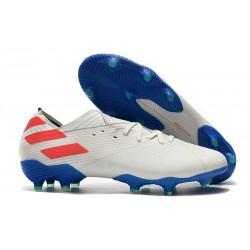 Botas de Futbol adidas Nemeziz 19.1 FG - Blanco Rojo Azul