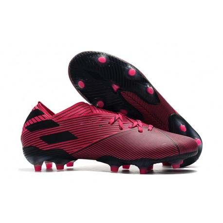 Botas de Futbol adidas Nemeziz 19.1 FG - Rosa Negro