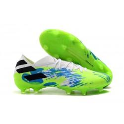 Botas de Futbol adidas Nemeziz 19.1 FG - Blanco Verde Azul