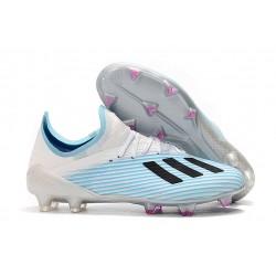 Zapatos de Futbol adidas X 19.1 FG Azul Blanco