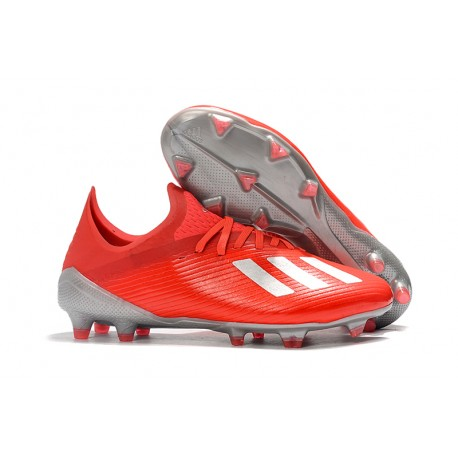 Zapatos de Futbol adidas X 19.1 FG Rojo Plata