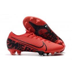 Tacos de Futbol Nike Mercurial Vapor 13 Elite FG Rojo Negro
