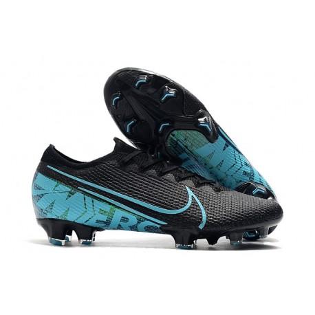 Tacos de Futbol Nike Mercurial Vapor 13 Elite FG Negro Azul