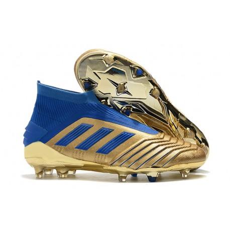 adidas Predator 19+ FG Botas y Zapatillas de Fútbol - Oro Azul