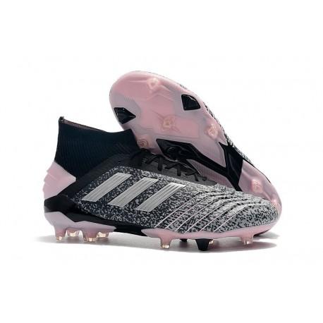 adidas Predator 19+ FG Botas y Zapatillas de Fútbol - Negro Gris Rosa