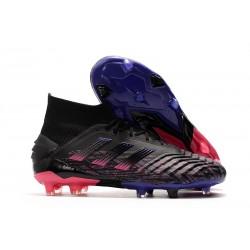 adidas Predator 19+ FG Botas y Zapatillas de Fútbol - Negro Rosa Azul