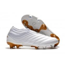 adidas Predator 19+ FG Botas y Zapatillas de Fútbol - Blanco Oro