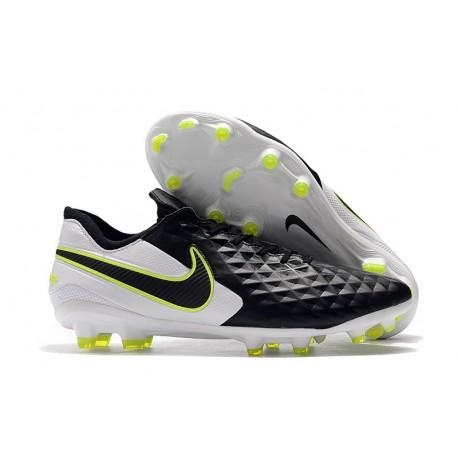 Tacón de Fútbol Nike Tiempo Legend VIII Elite FG Negro Blanco Voltio