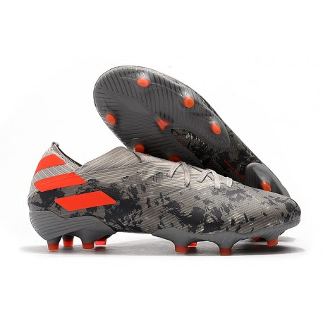 Botas de Futbol adidas Nemeziz 19.1 FG - Gris Naranja Chalk
