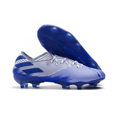Botas de Futbol adidas Nemeziz 19.1 FG - Blanco Azul
