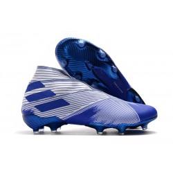 Tacos de Futbol adidas Nemeziz 19+ FG Blanco Azul