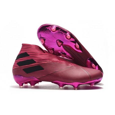 Tacos de Futbol adidas Nemeziz 19+ FG Rosa Negro