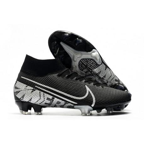 Nike Tacos de Futbol Mercurial Superfly 7 Elite FG Negro Gris