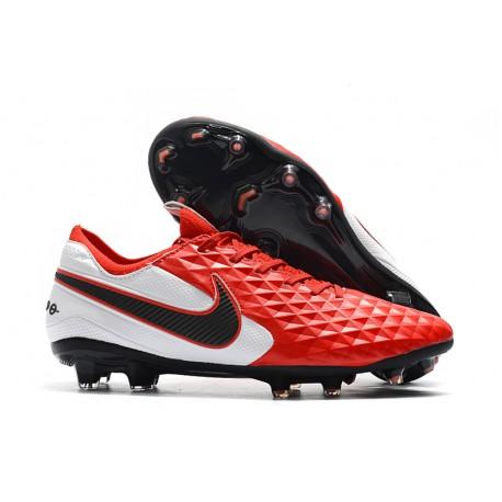 Tacón de Fútbol Nike Tiempo Legend VIII Elite FG Rojo Blanco Negro