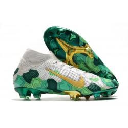 Nike Mbappe Mercurial Superfly 7 Elite FG Gris Dorado Metalizado Verde