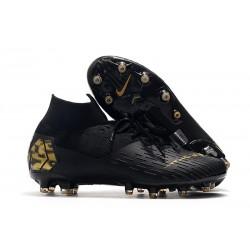 Nike Zapatillas de Futbol Mercurial Superfly VII Elite AG Negro Oro