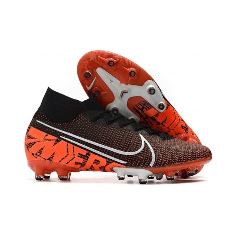 Nike Zapatillas de Futbol Mercurial Superfly VII Elite AG Black Hyper Crimson