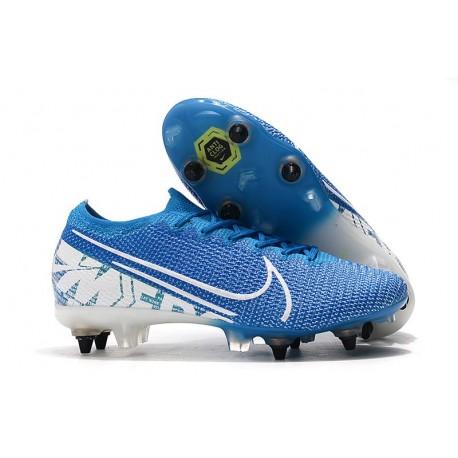 Nike Mercurial Vapor 13 Elite SG-Pro Anti-Clog New Lights Azul Blanco