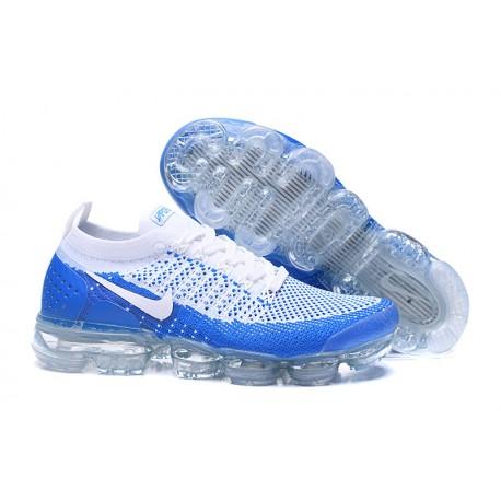 Nuevo Zapatillas Nike Air Vapormax Flyknit 2 Azul Blanco