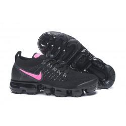 Zapatillas Nike Air Vapormax Flyknit 2 Mujer Negro Rosa