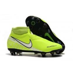 Nike Phantom Vision Elite DF SG-PRO AC Amarillo Fluorescente Blanco