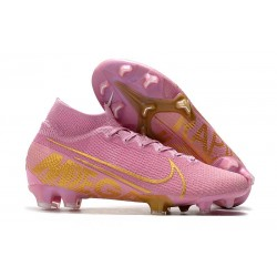 Nike Tacos de Futbol Mercurial Superfly 7 Elite FG Rosa Blanco