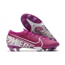 Nike Mercurial Vapor 13 Elite FG ACC Hombre Violeta Blanco