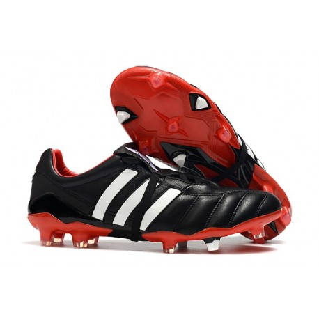 Adidas Predator Mania FG Botas y Zapatillas de Fútbol -Negro Blanco Rojo