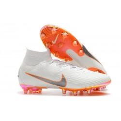 Zapatos de Fútbol Nike Mercurial Superfly 6 Elite AG Blanco Naranja