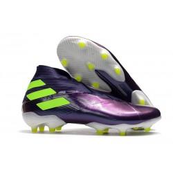 adidas Nemeziz 19+ FG Botas y Zapatillas de Fútbol Violeta Verde