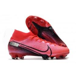 Nike Tacos de Futbol Mercurial Superfly 7 Elite FG Láser Crimson Negro