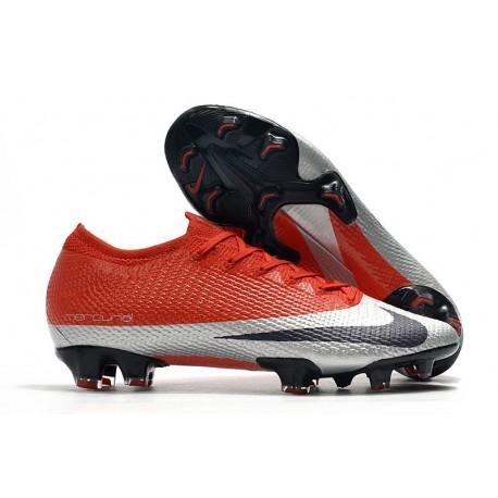 Nike Mercurial Vapor 13 Elite FG ACC Future DNA Rouge Plata Negro