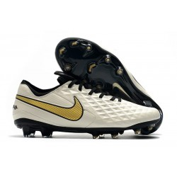 Tacón de Fútbol Nike Tiempo Legend VIII Elite FG Blanco Oro Negro