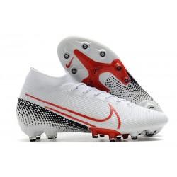 Nike Zapatillas de Futbol Mercurial Superfly VII Elite AG Blanco Rojo