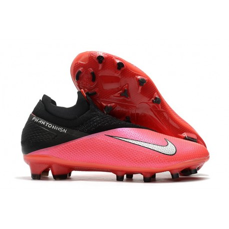 Nike Phantom VSN 2 Elite Dynamic Fit FG Laser Crimson Plata Negro