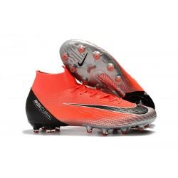 Zapatos de Fútbol Nike Mercurial Superfly 6 Elite AG Rojo Plata Negro