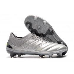 adidas Zapatillas de Fútbol Copa 19.1 FG -Silver Amarillo