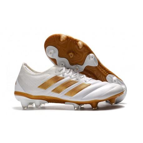 adidas Zapatillas de Fútbol Copa 19.1 FG - Blanco Oro