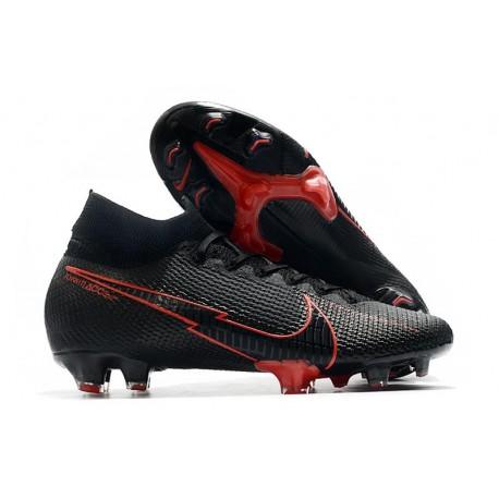 Botas de Fútbol Nike Mercurial Superfly VII Elite FG Negro Rosso