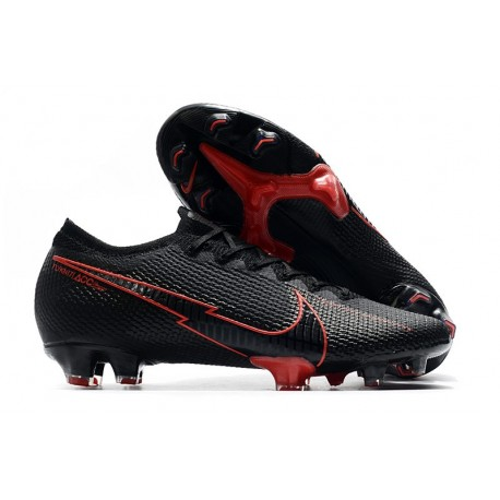 Nike Mercurial Vapor 13 Elite FG ACC Hombre Negro Rojo
