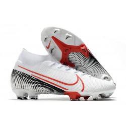 Botas de Fútbol Nike Mercurial Superfly VII Elite FG Blanco Carmesí láser Negro