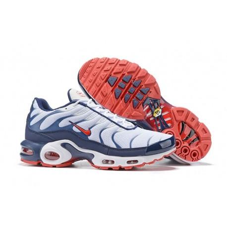 Zapatillas Nike Air Max Plus QS Hombre Blanco Azul Rojo