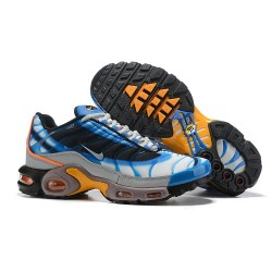 Zapatillas Nike Air Max Plus QS Hombre - Blanco Azul Naranja