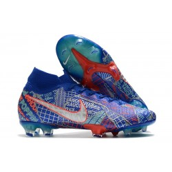 Nike Mercurial Superfly 7 Elite FG Sancho SE11 Azul Blanco Rojo