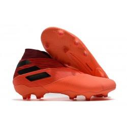 adidas Nemeziz 19+ FG Signal Coral Negro Rojo Gloria